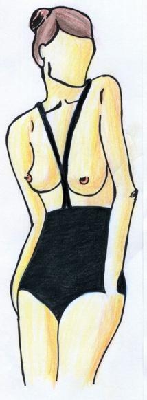 Le monokini, dessin créé par Fee Keller, sous licence creative common.
