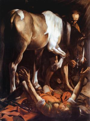 La Conversion de Saint Paul sur la route de Damas par le Caravage (1571-1610) - Domaine public.