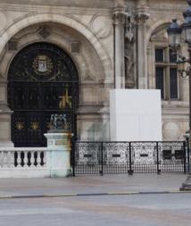 L'Hôtel de Ville de Paris fermée lors de la précédente grande grève des agents le 15 octobre 2015 (détail de la place de l'Hôtel de Ville) © VD/PT