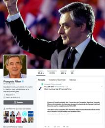 Communiqué de François Fillon après avoir été entendu par les enquêteurs © capture d'écran Twitter