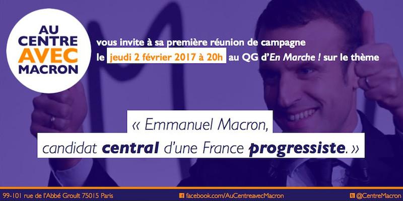Première réunion des centristes de Paris avec Emmanuel Macron le 2 février 2017 à Paris.