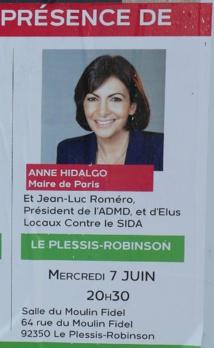 Détail : Anne Hidalgo en guest-star au meeting de Jean-Marc Germain, candidat Frondeur sortant aux législatives dans la 12e circonscription des Hauts de Seine © DR