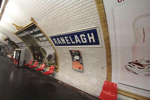 Station de métro Ranelagh 75016 Paris © Milliped