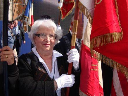 Madeleine Brun, épouse de résistant et porte-drapeau