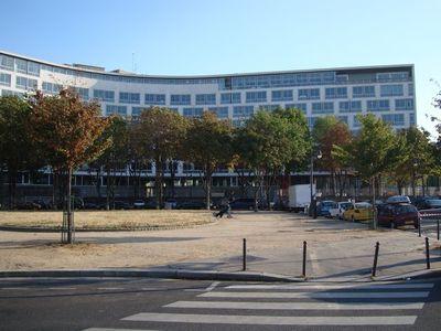 Le siège de l'UNESCO à Paris, 7 place de Fontenoy dans le 7ème arrondissement.