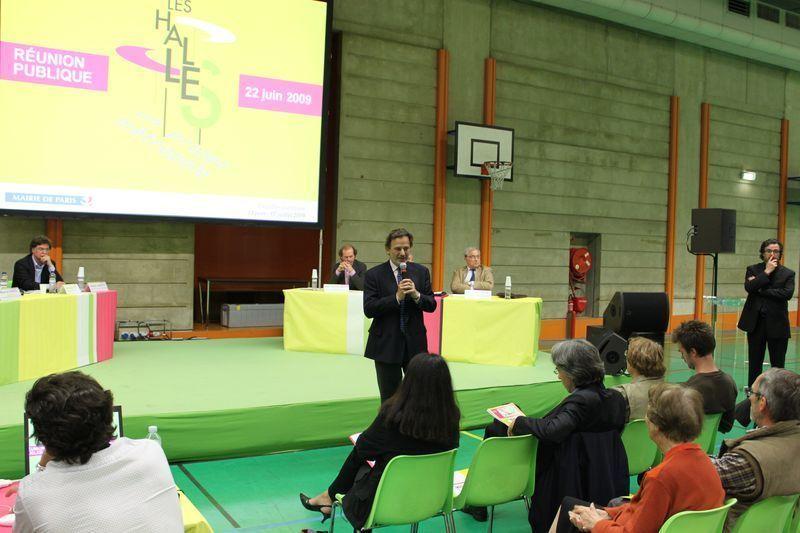 Le maire du 1er, Jean-François Legaret, ouvre la réunion