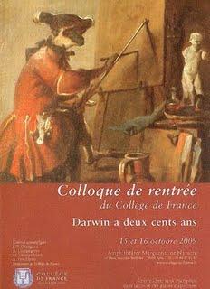 """Colloque de rentrée du Collège de France """"Darwin a deux cents ans"""""""