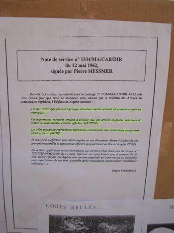 Note de service n° 1334/MA/CAB/DIR du 12 mai 1962 de Pierre Messmer