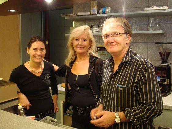 La famille Heurtebise : Corinne, Maïté et Jean-Pierre