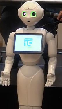 Le robot Pepper accepte une démonstration pendant le conseil du 15e arrondissement © capture d'écran Mairie du 15e