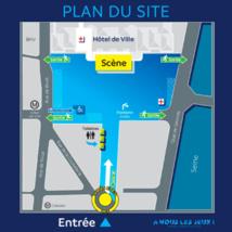Cliquez sur l'image pour voir le plan d'accès au concert © Mairie de Paris