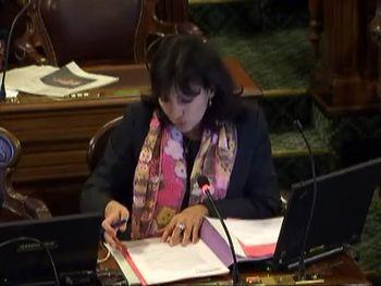 Anne Hidalgo, au Conseil de Paris le 24 novembre 2009