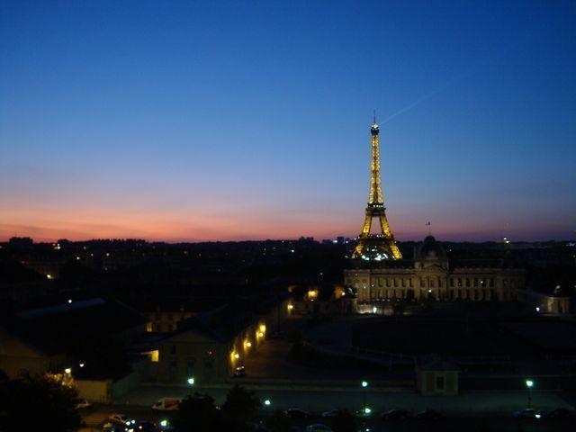 La Tour Eiffel vue de l'UNESCO dans le 7e arrondissement