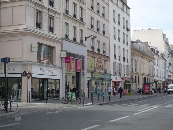 Les commerces rue de Sèvres en face de Laennec