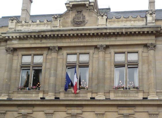 La salle des mariages de la mairie du 6ème arrondissement de Paris