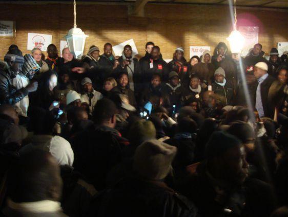 Lilan Thuram est venu soutenir les grévistes travailleurs sans papiers