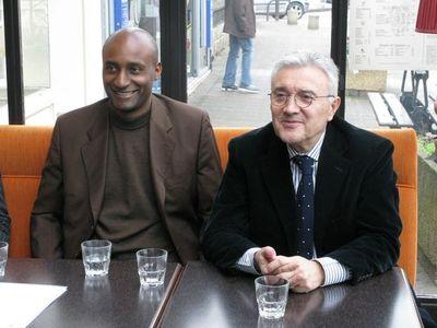 Alain Dolium et Jean-Jacques Jegou, sénateur du Val-de-Marne (Modem)