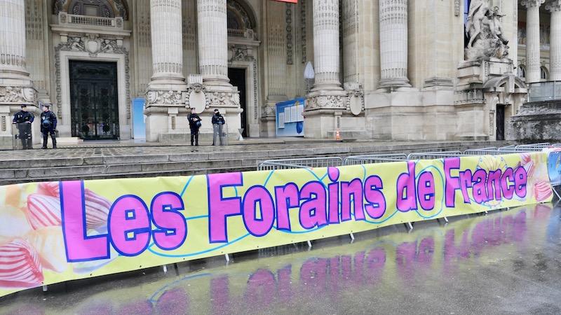 Manifestation des Forains de France devant le Grand Palais le 21 décembre 2017 de 14h à 16h30 - Autorisation déclarée en préfecture © VD - PT