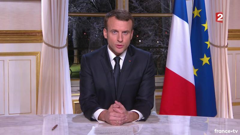 Les voeux 2017 d'Emmanuel Macron © capture d'écran.