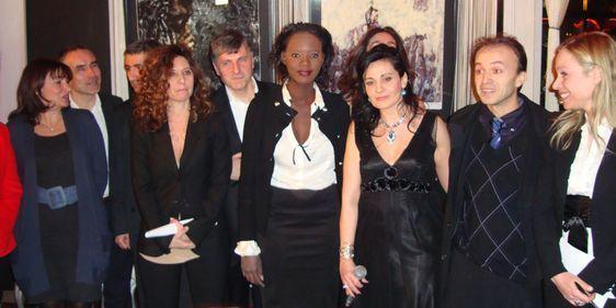 Au centre : Rama Yade et Olivia Cattan, présidente de l'Association Paroles de Femmes organisatrice du Trophée féminin du Mérite