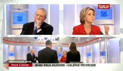 Jean-Paul Huchon - Valérie Pécresse : le dernier débat