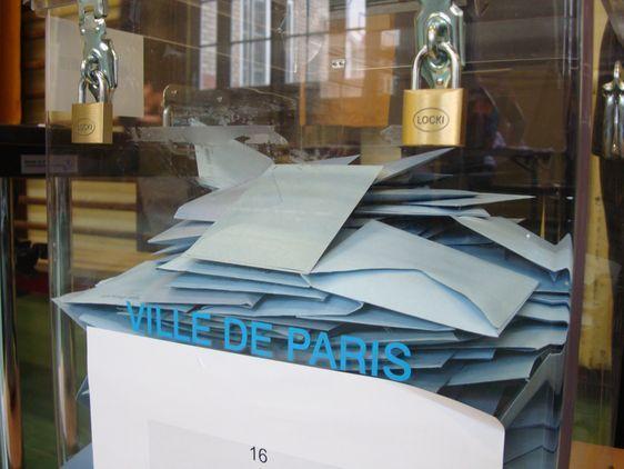 Urne à Paris le 14 mars