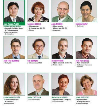 (c) CR : Des conseillers du groupe des Verts de 2004 à 2010