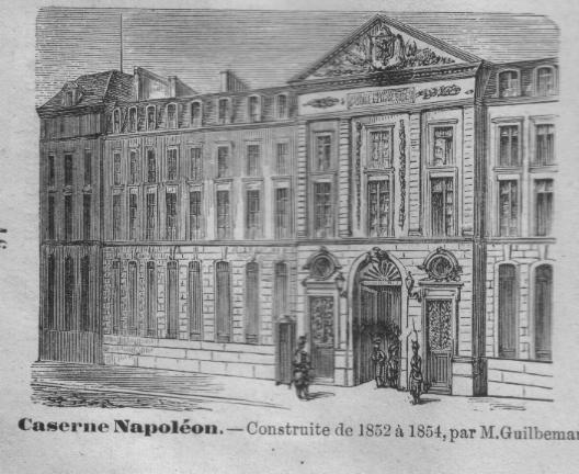(c) Letime.net : la caserne Napoléon située place Baudoyer