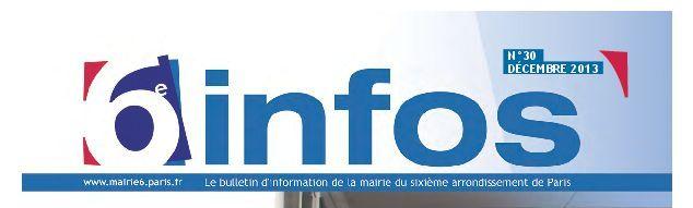 6e infos - Sixième Infos - Bulletin municipal du 6e arrondissement - Capture d'écran (c) Mairie du 6e arrondissement.