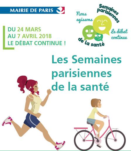 Les semaines parisiennes de la santé du 27 mars au 7 avril 2018.