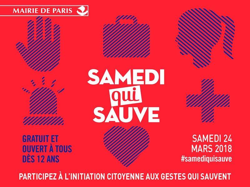 Le samedi 24 mars 2018, participez à l'initiative parisienne un « Samedi qui sauve » indique la Mairie de Paris.