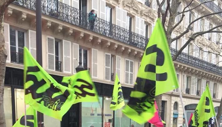 Manifestation Sud Rail à Paris le 3 avril 2018 © DR
