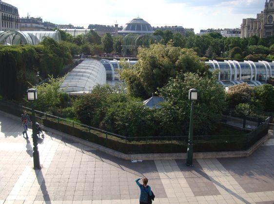 (c) ATI : Vue sur les Halles depuis la terrasse du conservatoire