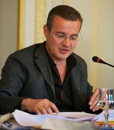 Emmanuel Pierrat au conseil du 6e arrondissement - Photo : Stan Sniper-press.