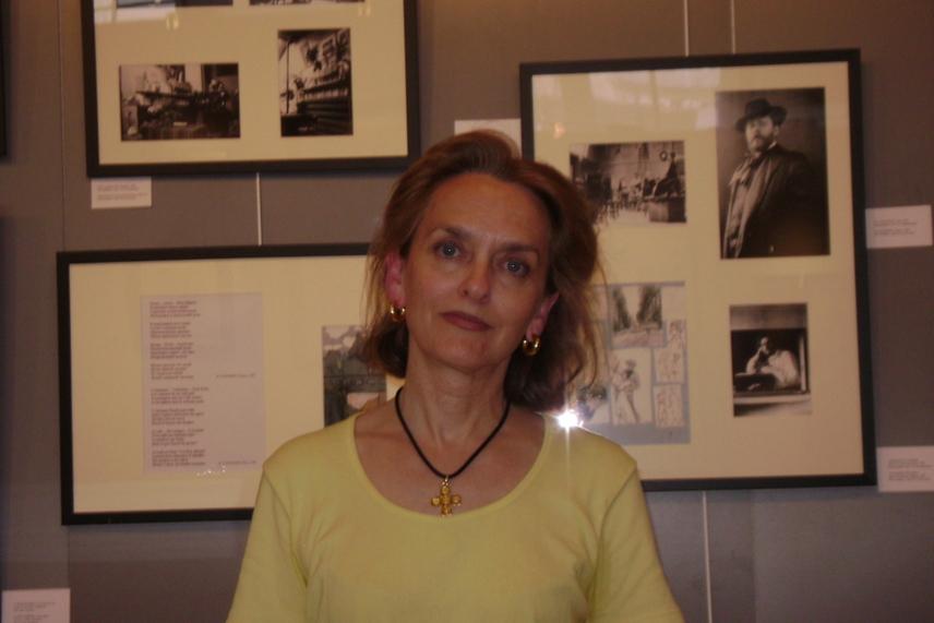 Marie-Aude Albert, commissaire de l'exposition Maximilian Volochine