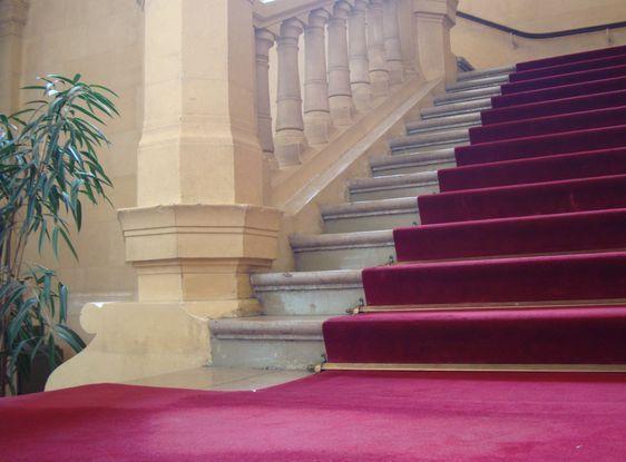 L'escalier d'honneur le 31 mai 2010