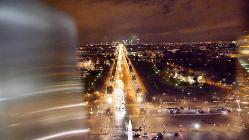 L'avenue des Champs-Elysées depuis la Grande Roue de Paris © TD/PT, Novembre 2017.