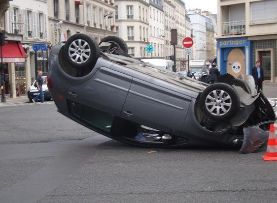 Un accident spectaculaire qui n'a heureusement fait aucun mort