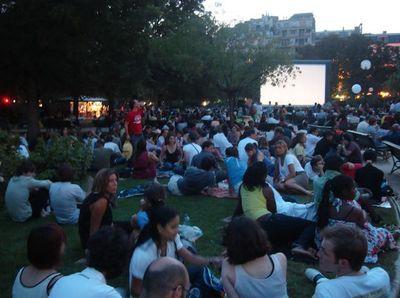 Jardin des Champs-Elysées : 1ère soirée du Cinéma au clair de lune 2009