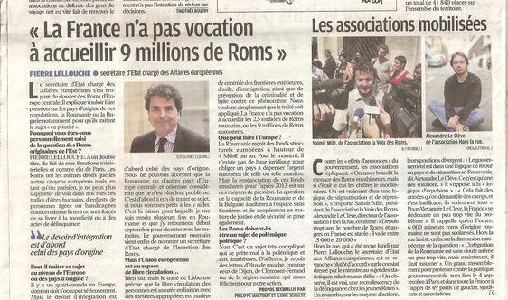 La page 2 du Parisien du 5 août