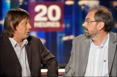 CGT et CFDT : Bernard Thibault et Francois Chérèque au 20h de France 2 le 16 juin 2010