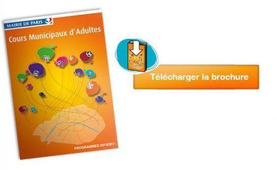 (c) Paris.fr : cours municipaux pour adultes