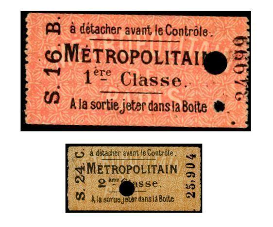 (c) Grégoire Thonnat - Ticket de carnet de 1ère & 2ème classe- format : 60 x 30 mm - 1903