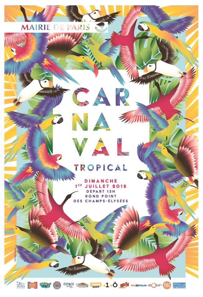Le carnaval tropical est organisé par la Ville de Paris.