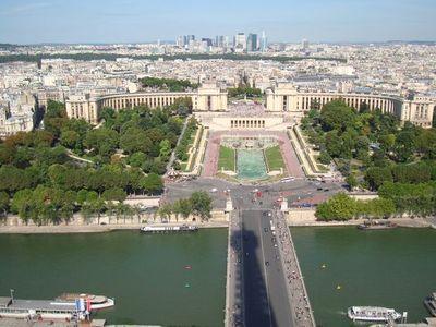 Le 16ème arrondissement vu depuis la Tour Eiffel