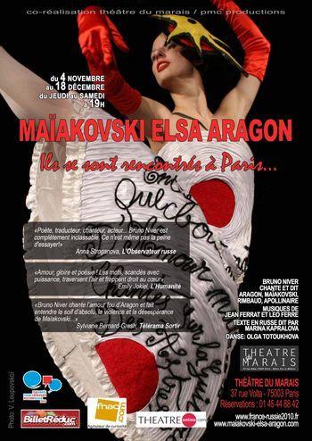Maiakovski Elsa Aragon, ils se sont rencontrés à Paris au théâtre du Marais