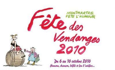 (c) Création originale de la dessinatrice Claire Bretécher pour l'affiche de la Fête des Vendanges 2010 : Agrippine et son arrière grand-mère de 95 ans et demi, Zonzon