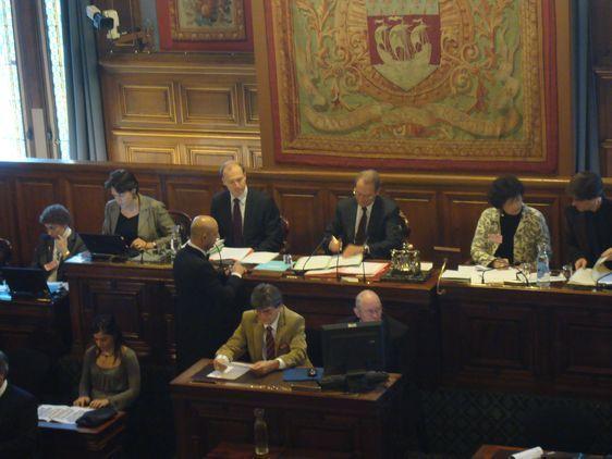 Le conseil de Paris du 18 octobre 2010