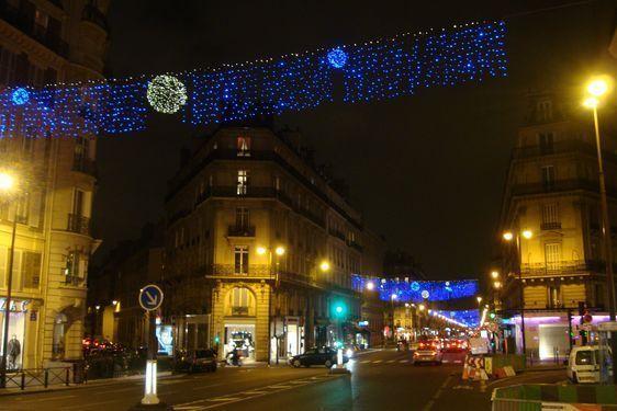 La rue de Rennes illuminée