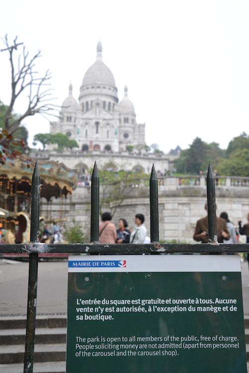 Le Square Louise Michel dans le 18e arrondissement de Paris © archives Paris Tribune.